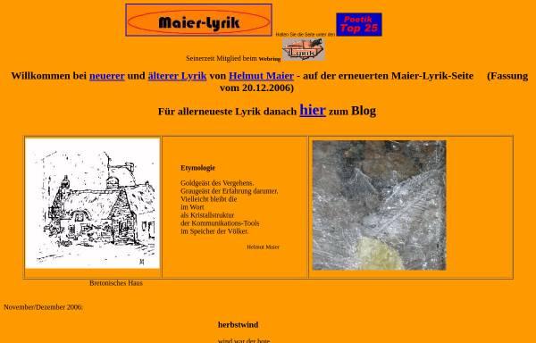 Vorschau von www.maier-lyrik.de, Maier-Lyrik