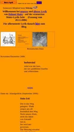Vorschau der mobilen Webseite www.maier-lyrik.de, Maier-Lyrik
