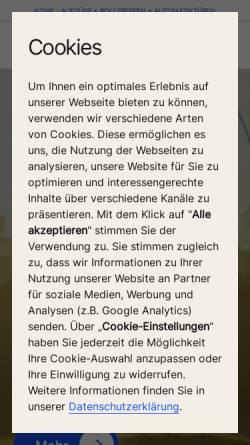 Vorschau der mobilen Webseite www.kone.de, Kone GmbH