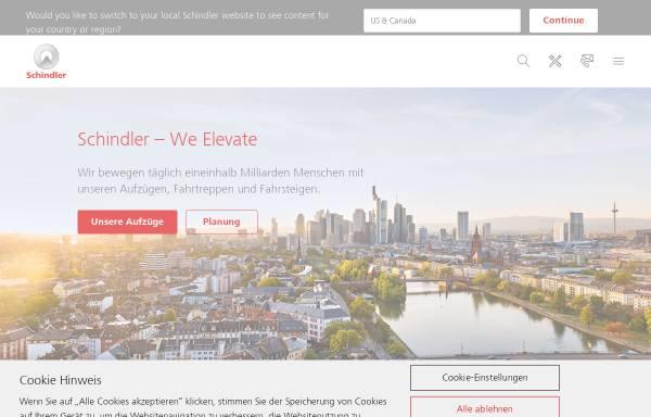 Vorschau von www.schindler.de, Schindler Aufzüge und Fahrtreppen GmbH