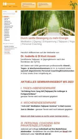 Vorschau der mobilen Webseite www.qigong-entspannung.at, Karisma