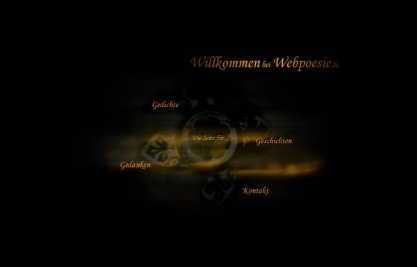 Vorschau von www.webpoesie.de, Webpoesie - Gedichte, Gedanken, Träume