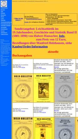 Vorschau der mobilen Webseite www.leichtathletik-dgld.de, Deutsche Gesellschaft für Leichtathletik-Dokumentation 1990 e.V.
