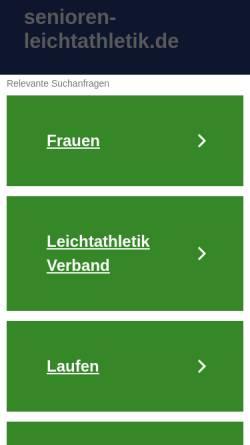 Vorschau der mobilen Webseite www.senioren-leichtathletik.de, Senioren Leichtathletik