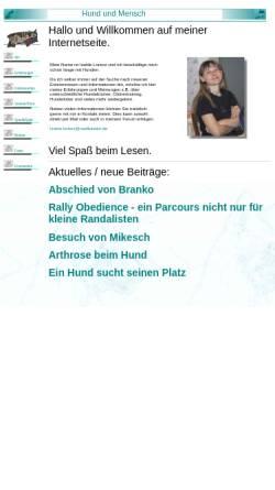 Vorschau der mobilen Webseite www.hund-und-mensch.mailkasten.de, Hund und Mensch