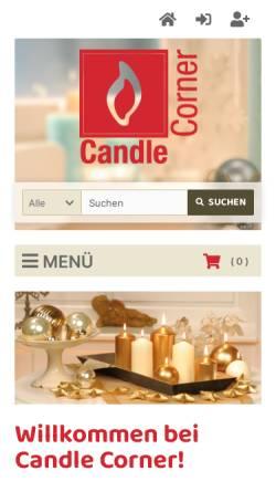 Vorschau der mobilen Webseite www.candlecorner.de, Candle Corner.de