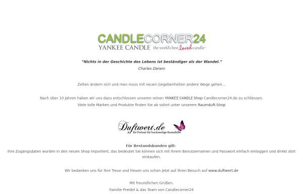 Candlecorner24: Kerzen, Dekorationsartikel candlecorner24.de