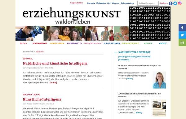 Vorschau von www.erziehungskunst.de, Erziehungskunst