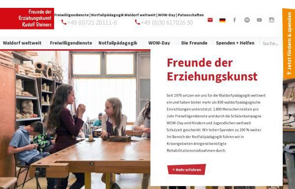 Vorschau von www.freunde-waldorf.de, Freunde der Erziehungskunst Rudolf Steiners e.V.