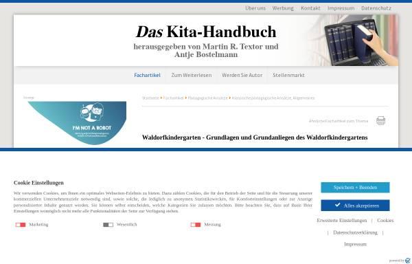 Vorschau von www.kindergartenpaedagogik.de, Waldorfkindergarten: Grundlagen und Grundanliegen