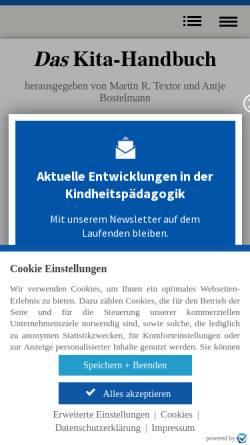 Vorschau der mobilen Webseite www.kindergartenpaedagogik.de, Waldorfkindergarten: Grundlagen und Grundanliegen