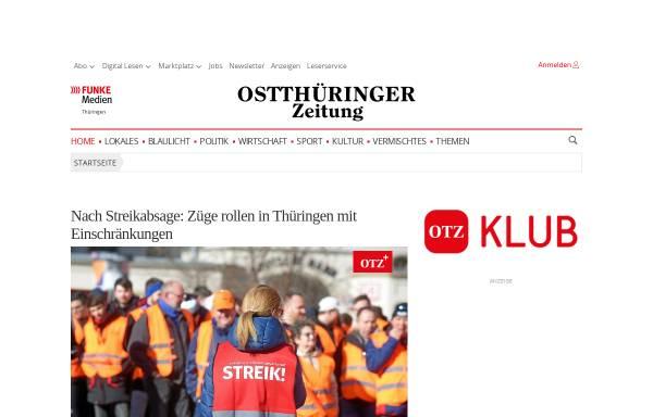 Vorschau von www.otz.de, OTZ - Ostthüringer Zeitung