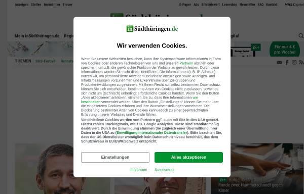 Vorschau von www.stz-online.de, STZ - Südthüringer Zeitung