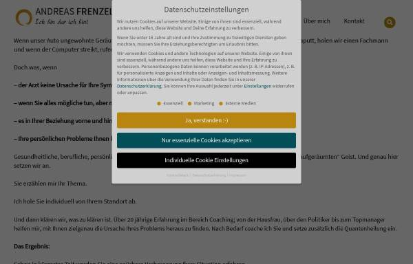 Vorschau von www.naturheilpraxis-frenzel.de, Andreas Frenzel
