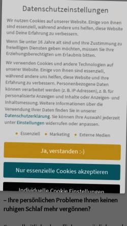 Vorschau der mobilen Webseite www.naturheilpraxis-frenzel.de, Andreas Frenzel