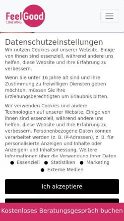 Vorschau der mobilen Webseite www.feelgood-coaching.de, FeelGood-Coaching