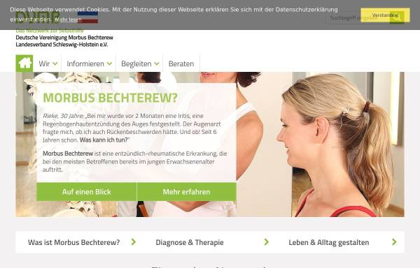 Vorschau von www.dvmb-sh.de, Deutsche Vereinigung Morbus Bechterew DVMB-Landesverband Schlewig-Holstein e.V.