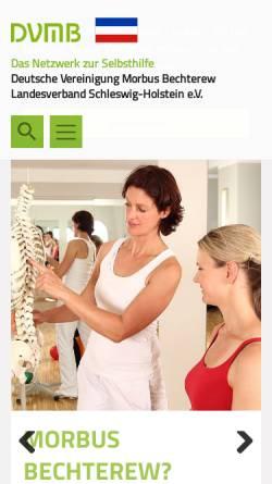 Vorschau der mobilen Webseite www.dvmb-sh.de, Deutsche Vereinigung Morbus Bechterew DVMB-Landesverband Schlewig-Holstein e.V.