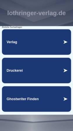 Vorschau der mobilen Webseite www.lothringer-verlag.de, Lothringer Verlag