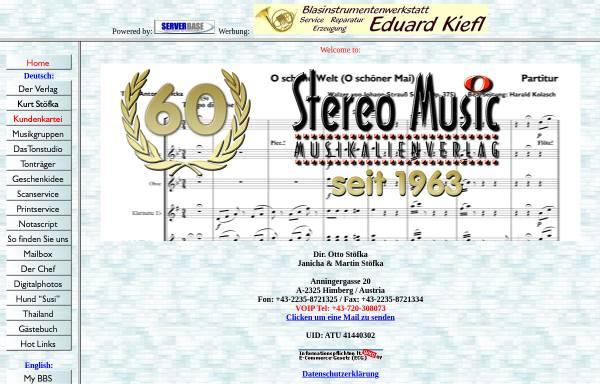 Vorschau von www.stereomusic.at, Musikalienverlag Otto Stöfka