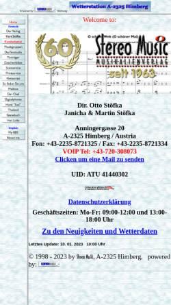 Vorschau der mobilen Webseite www.stereomusic.at, Musikalienverlag Otto Stöfka