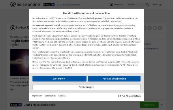 Vorschau von www.heise.de, heise Security