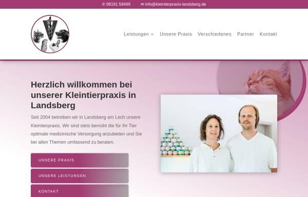 Vorschau von www.kleintierpraxis-landsberg.de, Bernhard und Manuela Gühne