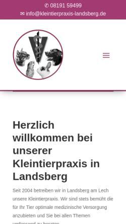Vorschau der mobilen Webseite www.kleintierpraxis-landsberg.de, Bernhard und Manuela Gühne
