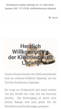 Vorschau der mobilen Webseite tierarzt-spandau.de, Christoph Ladwig