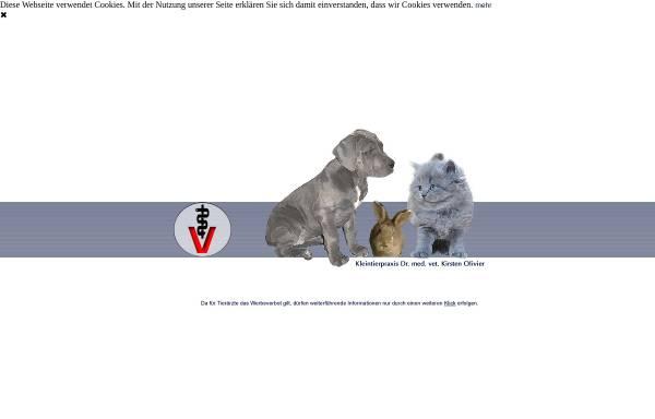 Vorschau von www.kleintierpraxis-haltern.de, Dr. med. vet. Kirsten Olivier