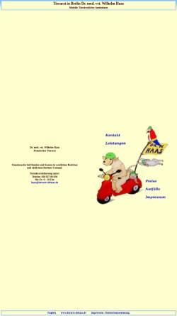 Vorschau der mobilen Webseite www.tierarzt-drhaas.de, Dr. Wilhelm Haas