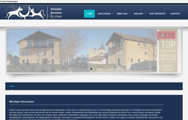 Vorschau von www.tierklinik-kasa.de, Kleintierklinik Dres. Kasa