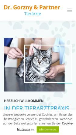 Vorschau der mobilen Webseite www.tierarztpraxis-leipzig.de, Kleintierpraxis Dr. Olaf Gorzny