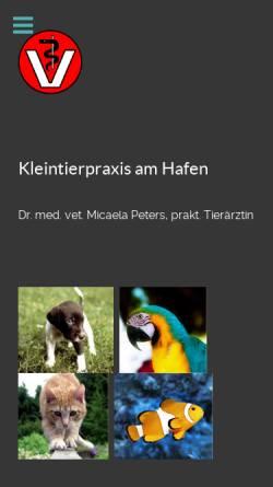 Vorschau der mobilen Webseite www.kleintierpraxis-am-hafen.de, Kleintierpraxis am Hafen