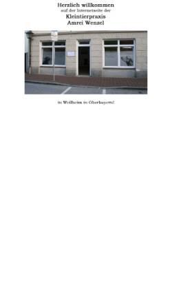 Vorschau der mobilen Webseite www.kleintierpraxis-wenzel.de, Kleintierpraxis Amrei Wenzel