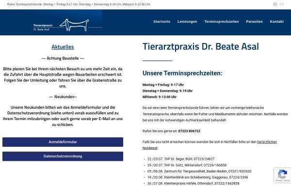 Vorschau von www.asal-tierarzt.de, Kleintierpraxis Asal