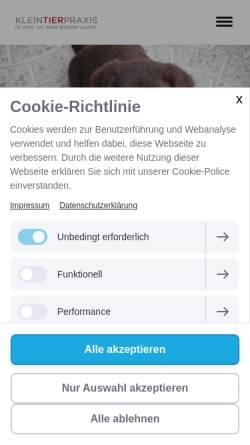 Vorschau der mobilen Webseite www.praxis-dr-bergner.de, Kleintierpraxis Dr. Anke Bergner-Lienert
