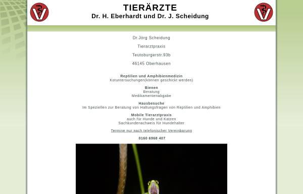 Vorschau von www.moers-tierarzt.de, Kleintierpraxis Dr. H. Eberhardt und Dr. J. Scheidung