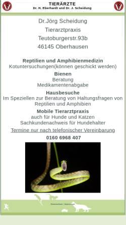 Vorschau der mobilen Webseite www.moers-tierarzt.de, Kleintierpraxis Dr. H. Eberhardt und Dr. J. Scheidung