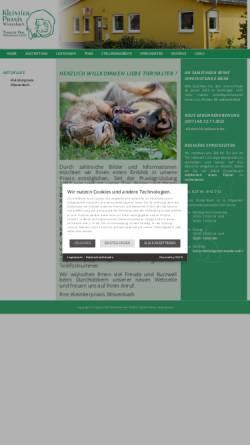 Vorschau der mobilen Webseite www.kleintierpraxis-wissenbach.de, Kleintierpraxis Dr. Hansjörg Lehn und Kerstin Lehn-Kohl