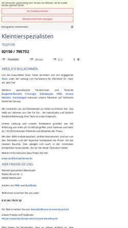 Vorschau der mobilen Webseite sanfte-kastration.de, Kleintierpraxis Dr. Jens Diel
