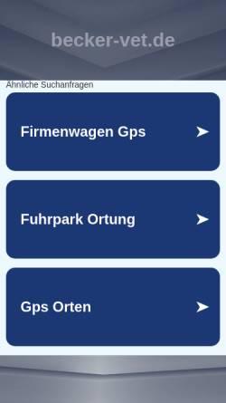 Vorschau der mobilen Webseite www.becker-vet.de, Ganzheitliche Tierarztpraxis für Kleintiere, Hunde, Katzen und Pferde Dr. Jochen Becker