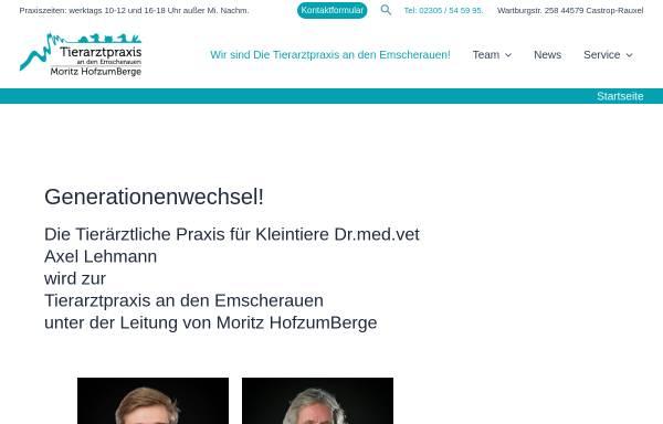 Vorschau von www.tierarzt-castrop.de, Kleintierpraxis Dr. med. vet. Axel Lehmann