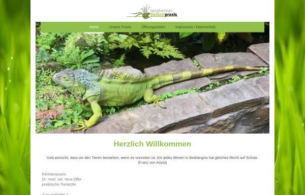 Vorschau von www.tierarztpraxis-effer.de, Kleintierpraxis Dr. med. vet. Nina Effer