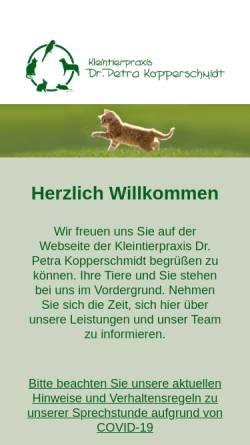 Vorschau der mobilen Webseite www.kleintierpraxis-emmerthal.de, Kleintierpraxis Dr. Petra Kopperschmidt