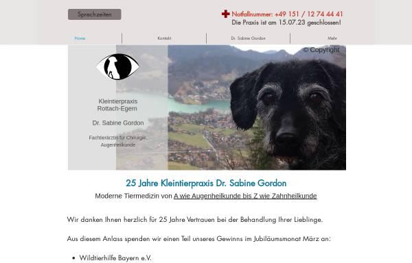 Vorschau von www.gordon-web.de, Kleintierpraxis Dr. Sabine Gordon