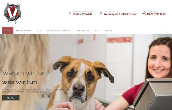 Vorschau von www.tierarzt-fritzlar.de, Kleintierpraxis in Fritzlar GbR
