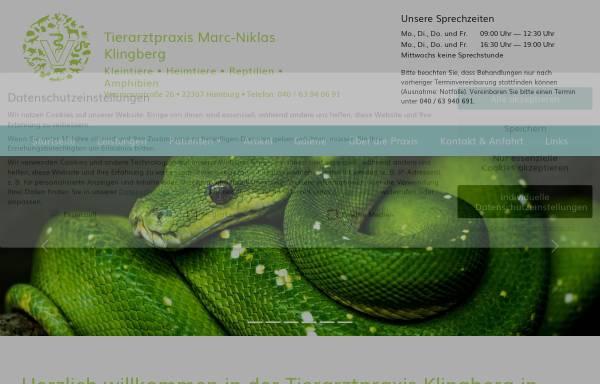 Vorschau von www.tierarztpraxis-klingberg.de, Kleintierpraxis Klingberg