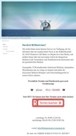 Vorschau der mobilen Webseite www.kleintierpraxis-listerturm.de, Kleintierpraxis Lister Turm