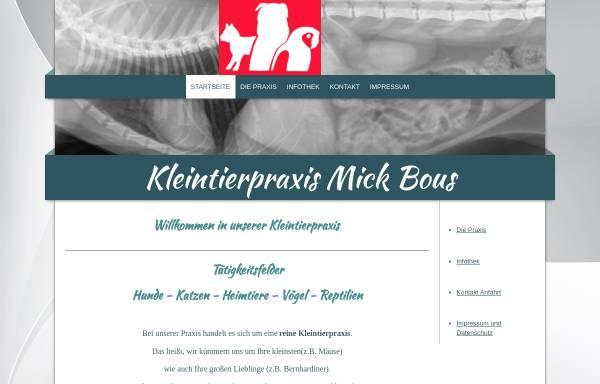 Vorschau von www.tierarztpraxis-mick.de, Kleintierpraxis Mick